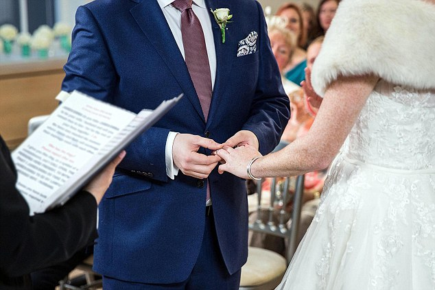 While Emma said she was relieved when she saw James at the altar, the university administrator admitted he found it 'awkward'