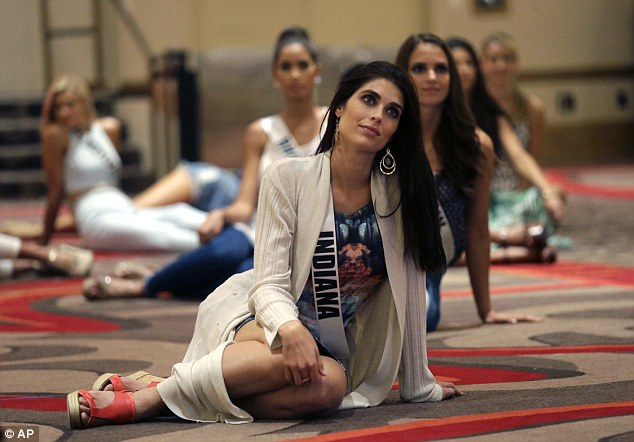 Paying attention:Miss Indiana Gretchen Reece listens to instruction during rehearsal for the upcoming show