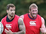 BAGSHOT, ENGLAND - JULY 08:  Chris Robshaw, the England captain, powers forward as he sprints during the England training session held at Pennyhill Park on July 8, 2015 in Bagshot, England.  (Photo by David Rogers/Getty Images)
