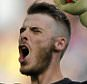 FILE PHOTO: Manchester United goalkeeper David De Gea has arrived in Spain according to reports Manchester United's David De Gea ... Soccer - Barclays Premier League - Manchester United v Everton - Old Trafford ... 05-10-2014 ... Manchester ... England ... Photo credit should read: Richard Sellers/EMPICS Sport. Unique Reference No. 21130546 ...