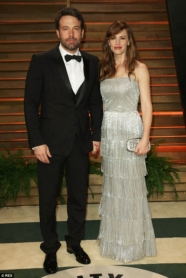 Happier times: The couple, pictured at the Vanity Fair party last year, married on June 29, 2005