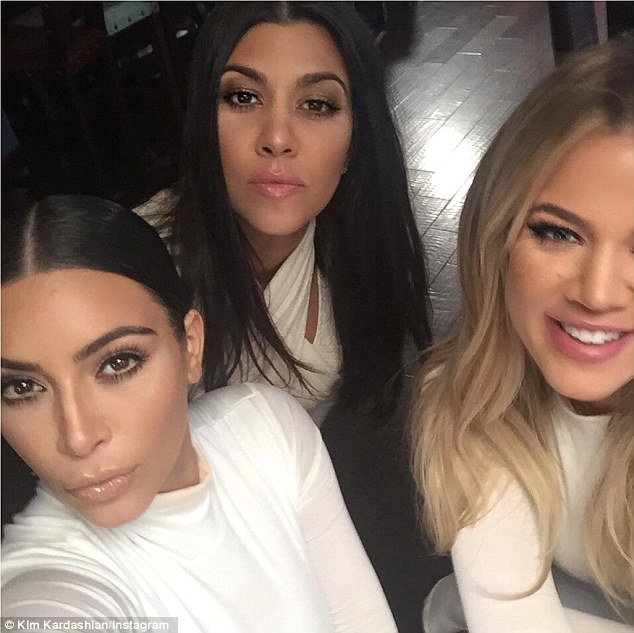 Strike a pose: Kim captioned this photo: 'All white everything...well not everything'