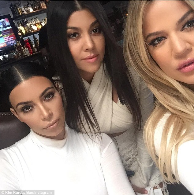 Ready for their close-up: Selfie queen Kim shared the snapshots on her Instagram page