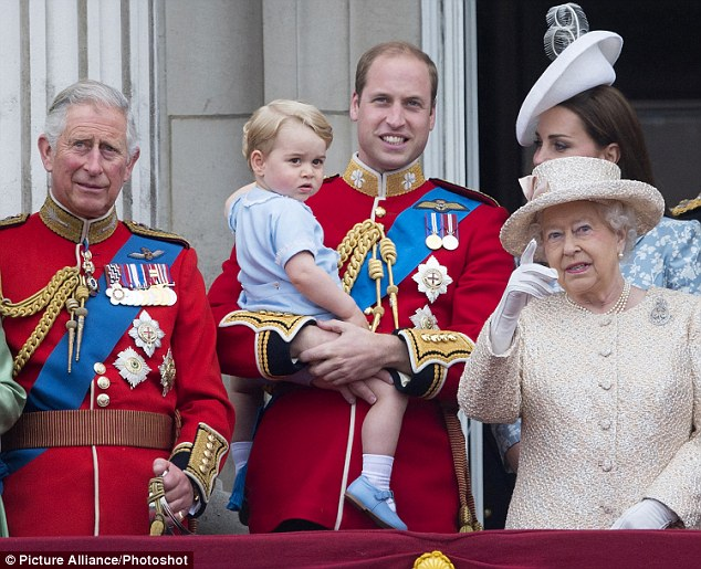 Like father, like son: Prince William, pictured at Trooping the Colour, also calls the Queen 'Granny'