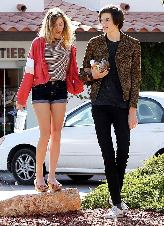 Such a gentleman: Pierce Brosnan's model son Dylan spent time with his girlfriend on Tuesday in Malibu