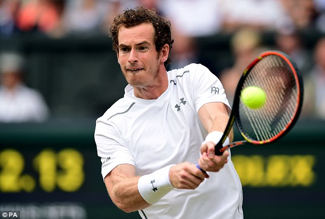 Hope of the nation: Murray, 28, who is the third seed, will be hoping to exploit any signs of tiredness from Canadian Pospisil in their quarter-finals tie