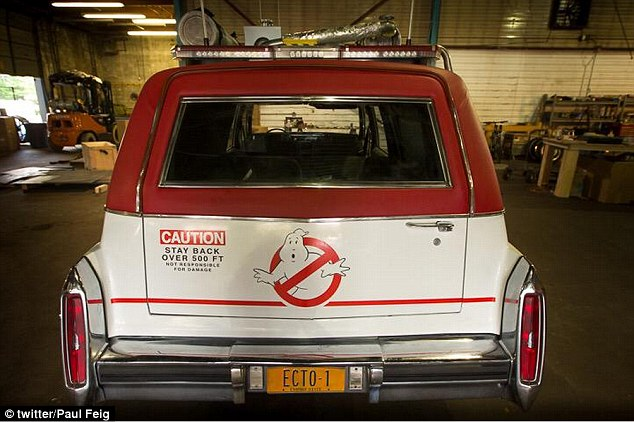 Same, same but different:The new version of the Ecto-1 has retained the same red and white colour scheme and the classic Ghostbusters' logo