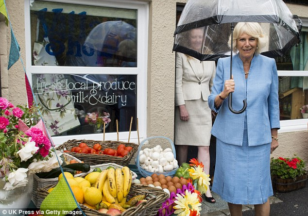 Tasty: The visit also involved a trip to the village shop to see the local produce on display