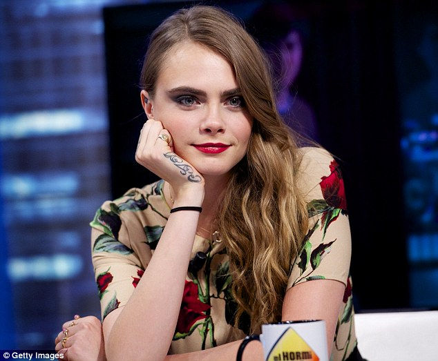 Good work: Cara is already receiving praise for her acting work in upcoming Paper Towns