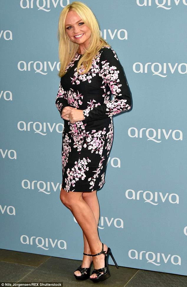 No Wannabe: Emma Bunton looked summery in a printed dress at the Arqiva Commercial Radio Awards in London on Wednesday night