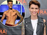 "UNIVERSAL CITY, CA - JULY 08:  Ruby Rose visits ""Extra"" at Universal Studios Hollywood on July 8, 2015 in Universal City, California.  (Photo by Noel Vasquez/Getty Images)"