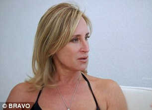 Getting emotional: Luann started tearing up as she apologised to Sonja