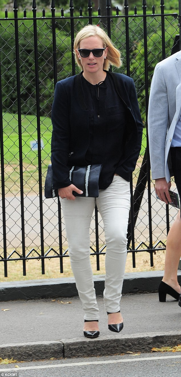 Zara Phillips went for understated elegance as she attended Wimbledon