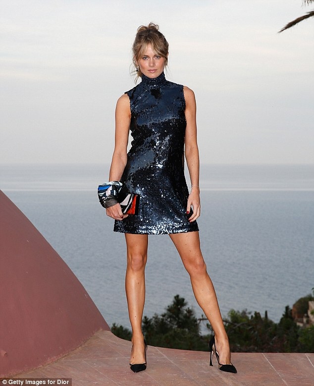 Actress Cressida, pictured at the Dior Croisiere, has been making a name for herself in the fashion world too