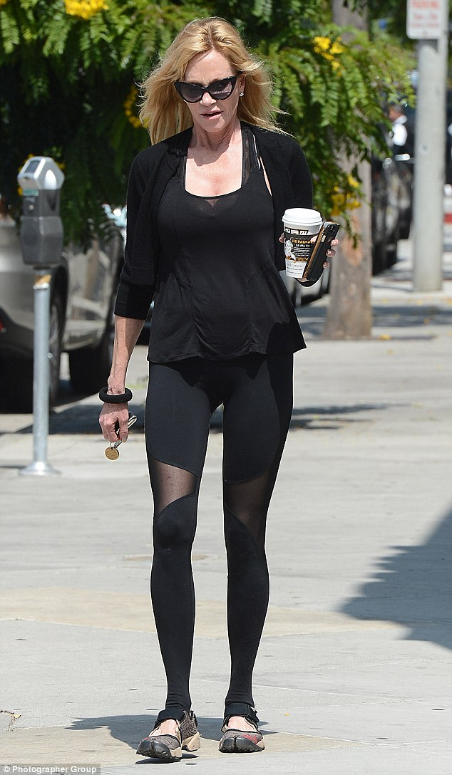 Slim and trim: The veteran actress takes her workout routine seriously. She introduced daughter Dakota Johnson to Winsor Pilates Studio for her role as Anastasia Steele in 50 Shades Of Grey