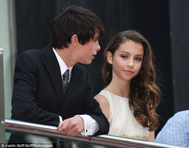 Runs in the family: Carys and Dylan looked perfectly poised and completely at ease in the limelight