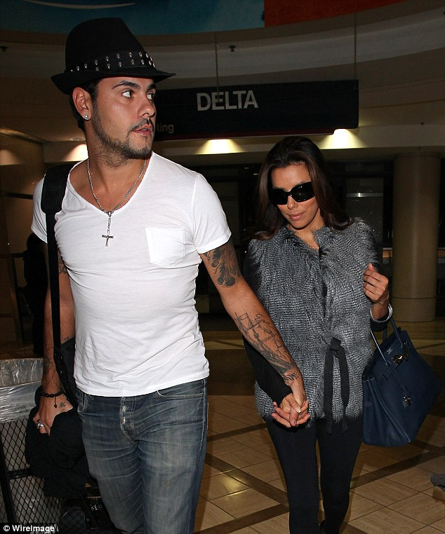 On off romance: Eva was linked to Eduardo Cruz, Penelope Cruz's younger brother, a romance that was briefly rekindled in 2013. Pictured in 2011 in Los Angeles