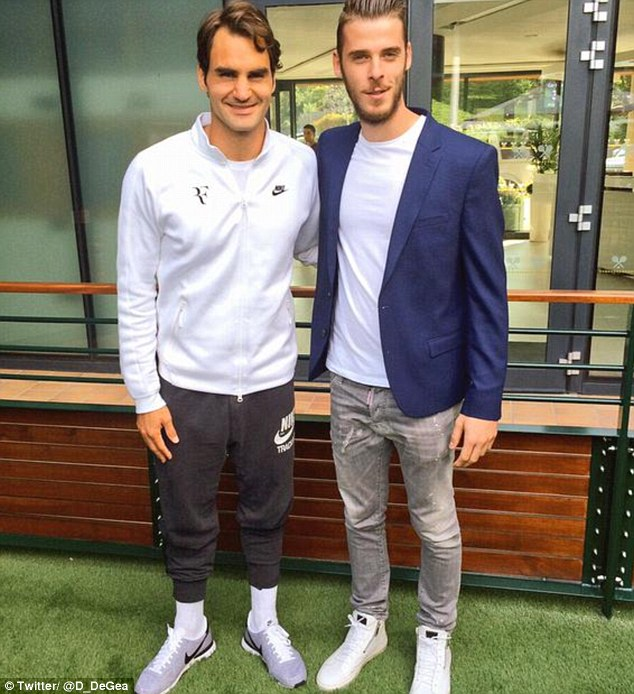 David de Gea took his mind off his ongoing transfer saga to have a day out at Wimbledon on Wednesday
