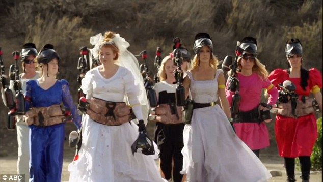 Good times: To celebrate her upcoming nuptials, Heidi took Amber and her friends paintball shooting for her bachelorette party
