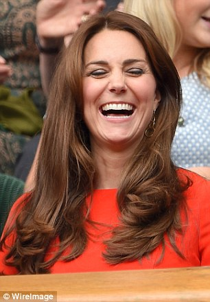 Lots of laughs: The Duchess of Cambridge was in high spirits as she laughed with their companions