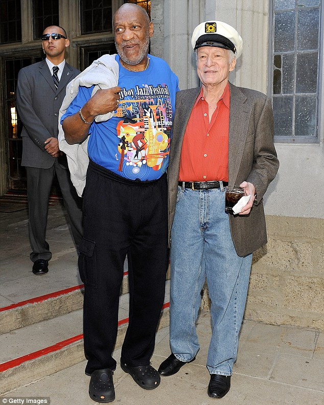Friendship: Bill Cosby and Hugh Hefner's association goes back decades. Goins told Daily Mail Online she went to party hosted by Hefner when he introduced her to Cosby, who then drugged her
