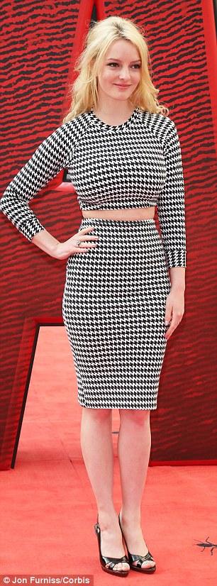 Monochrome: Skins star Dakota Blue Richards opted for smart matching separates