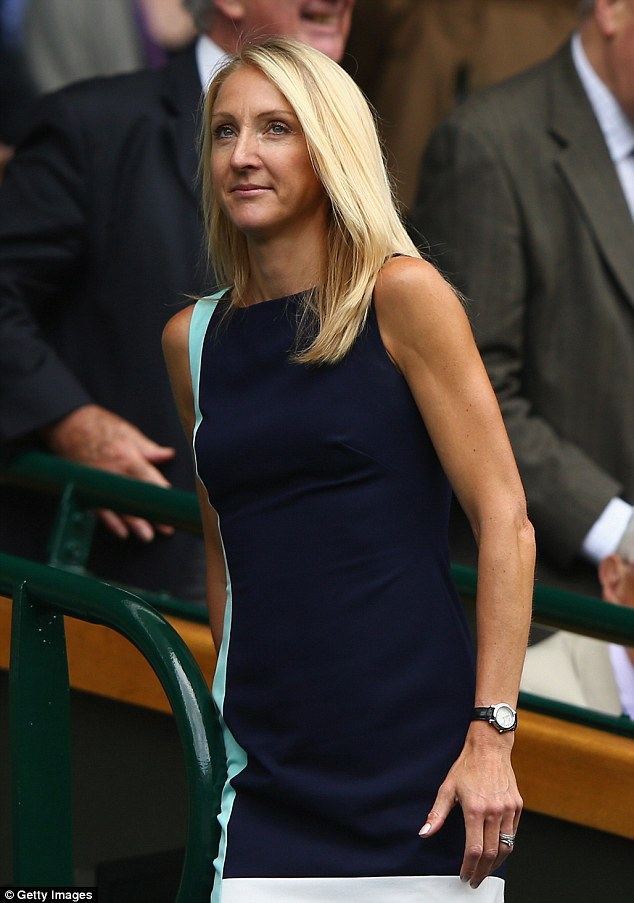Stylish guest: Britain's greatest female distance runner Paula Radcliffe make a chic arrival