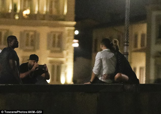 All of me: The couple made sure they got a photograph of them together on the bridge