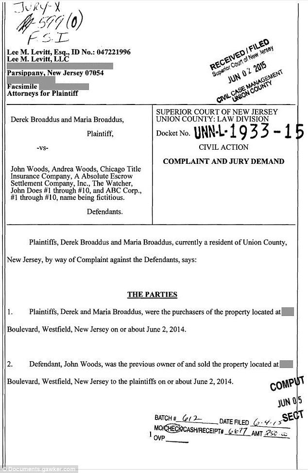 Court documents: The legal papers which began the mystery of The Watcher