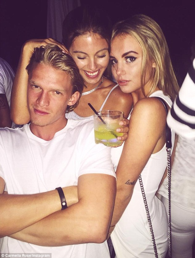 Dinner date: Carmella posted this snap of her and Cody at Nobu Malibu three days ago