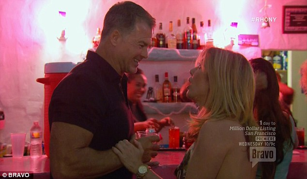 On the prowl: Ramona Singer honed in on a bar owner and ignored her friends