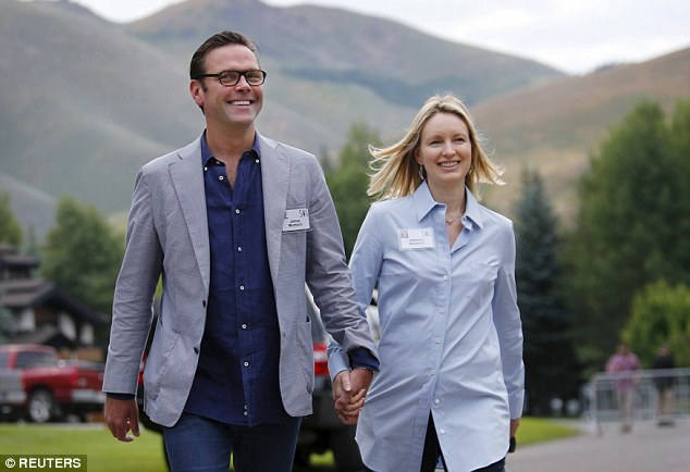 21st Century Fox  CEO James Murdoch walked in hand-in-hand with his wife Kathryn on Wednesday