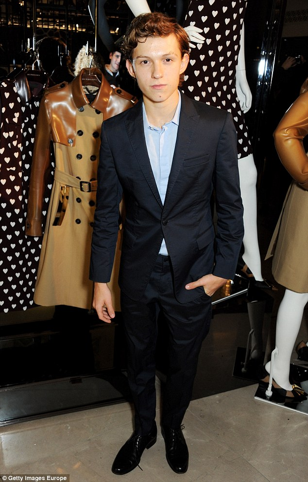 Co-star: She will be joining Tom Holland who has been cast as the superhero - he is pictured here at BAFTA Breakthrough Brits lunch in October 2013