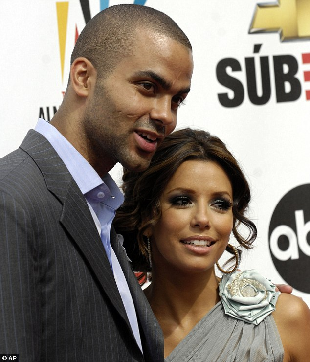 The way it was: The actress was married to Spurs' Tony Parker for four years until she filed for divorce in 2010. Pictured at the National Council of La Raza ALMA Awards in California in 2007