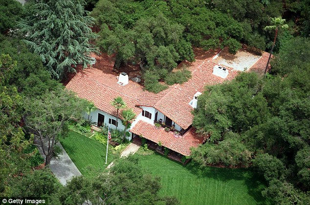 Luscious: This is a 1995 photograph of the couple's 60-acre ranch, which includes an avocado farm