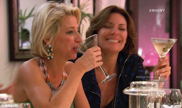Martini fans: Dorinda and Luann were throwing down martinis before an argument erupted over Heather's use of profanity