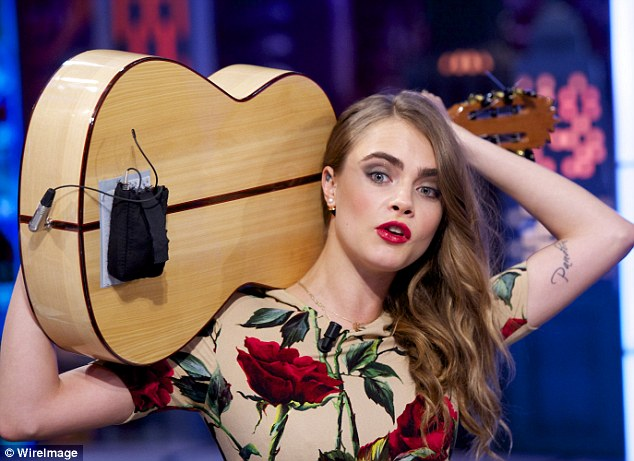 New career: Although she is now doing more acting work, Cara recently said she is not giving up on modelling