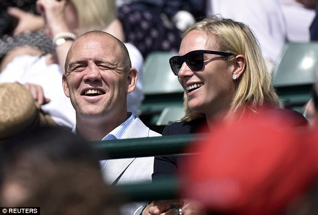 Mike and Zara shared a laugh on Court 1