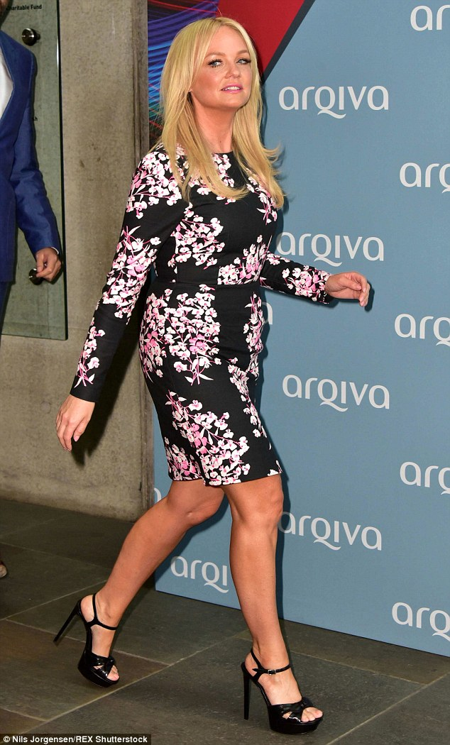 Best foot forward: Emmaadded height with a pair of towering heels as she arrived at the Camden Roundhouse