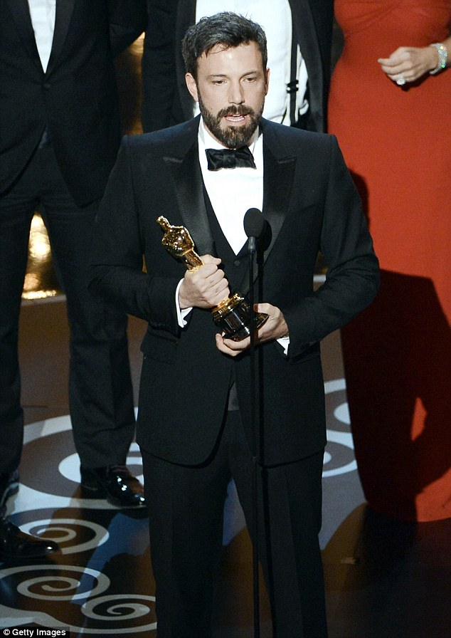 Tough times: During his 2013 Oscars speech Affleck embarrassed his wife by describing their marriage as 'work'