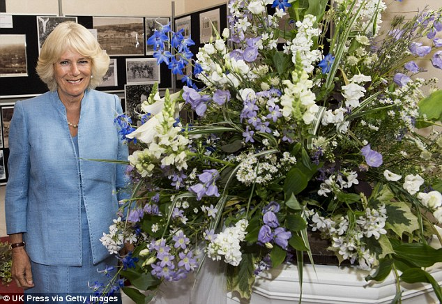 Gorgeous: Today's Flower Festival is the first the village have ever had - and Camilla opened it