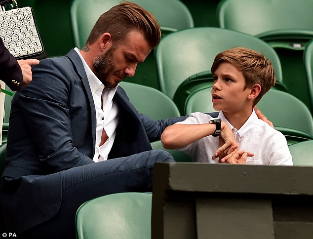 Sporting fans: The whole Beckham clan are passionate about sports thanks to their father's career