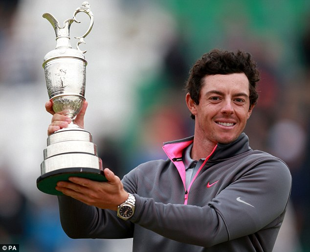 McIlroy won the Claret Jug at The Open for the first time in his career at Royal Liverpool last year