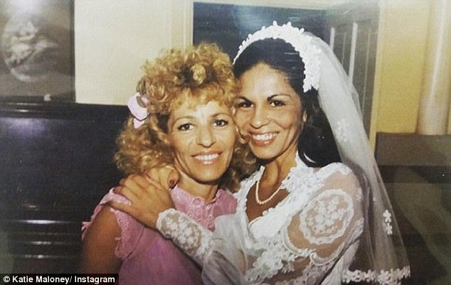 Premonition? Only days ago She posted a shot of her Mum's wedding day with her grandma