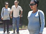 139934, A visibly pregnant Naya Rivera and husband Ryan Dorsey seen walking hand in hand as they go furniture shopping in LA. Los Angeles, California - Friday July 10, 2015. Photograph: Sam Sharma, © PacificCoastNews. Los Angeles Office: +1 310.822.0419 sales@pacificcoastnews.com FEE MUST BE AGREED PRIOR TO USAGE