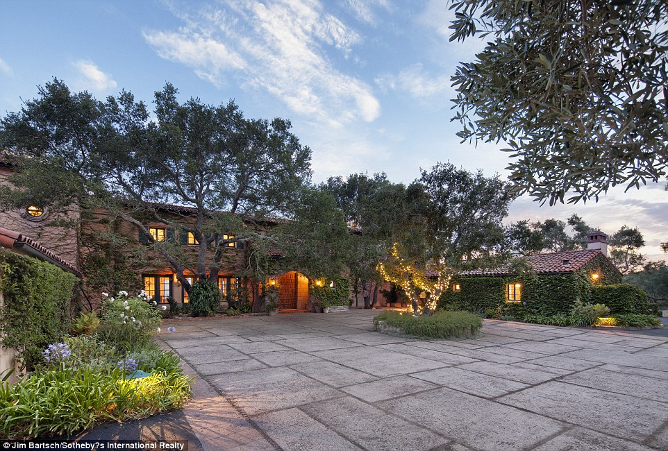 Drama:The Montecito home includes about 9535 square feet and is located on about 19.5 acres, according to its online listing
