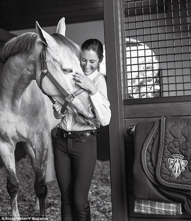 Calling: In an interview with V Magazine, Jessica Springsteen says she is proud of everything she has achieved as a show jumper, because she has done it on her own putting in the hard yards and effort