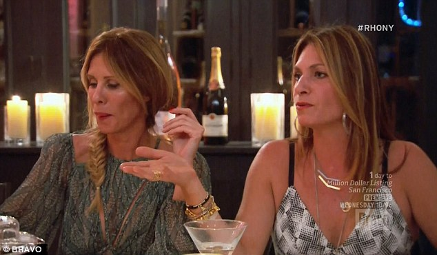 Stood her ground: Heather tried to stand her ground with Dorinda and Luann ganging up on her