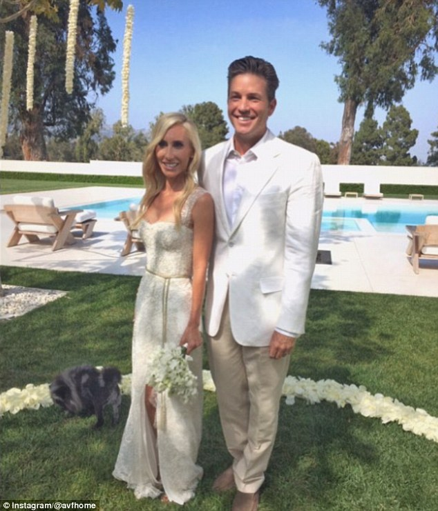 Happy anniversary! Alexandra von Furtenberg married Dax Miller at their Los Angeles home on Tuesday in celebration of their seven years together