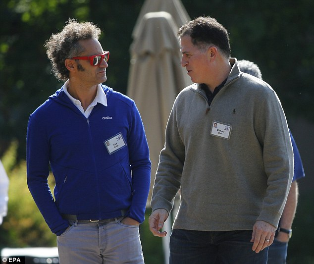 American Businessman Alex Karp (left) and Michael Dell (right) founder and CEO of Dell Inc on Wednesday
